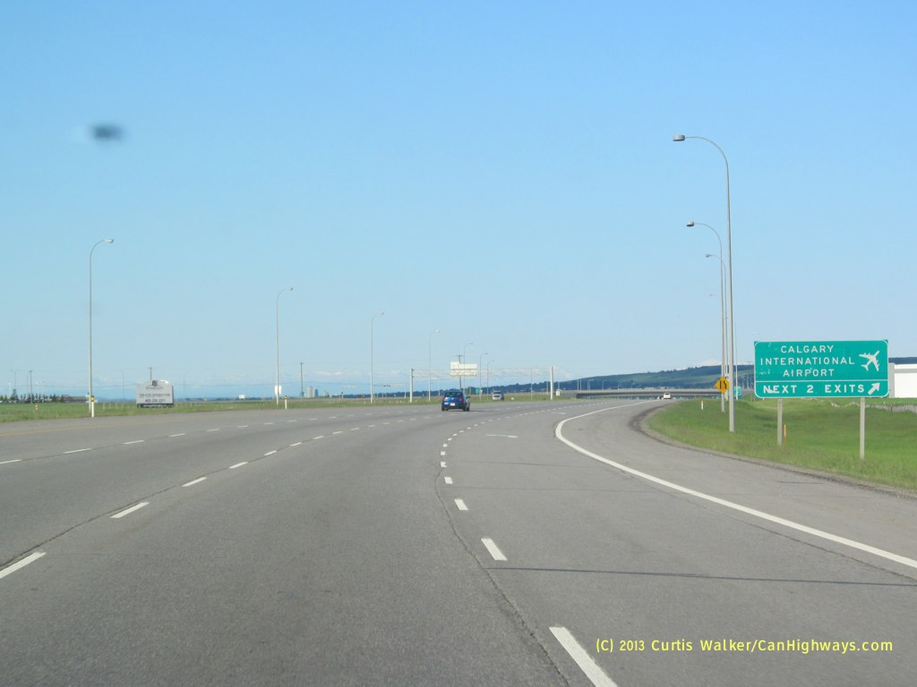 how to get to calgary airport from stoney trail