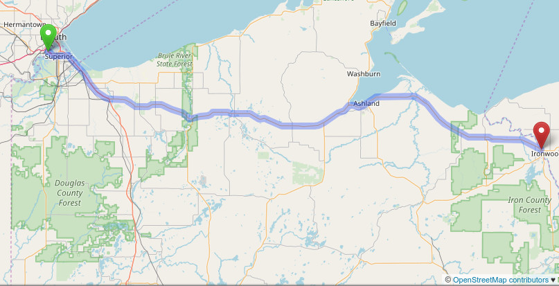 Wisconsin Us Highway 2 - Us-highway-2-map